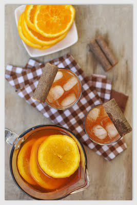 Riquísimo y refrescante té de Canela con naranja - perfecto en dietas para adelgazar.