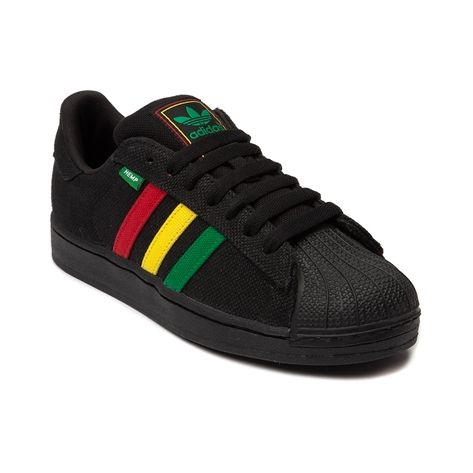 Mens adidas Superstar Hemp Athletic Shoe, Black Rasta, at Journeys Shoes