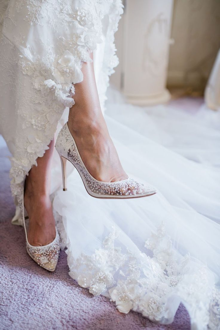 The Perfect Cinderella Glass Slipper Sparkly Crystal Ivory Wedding