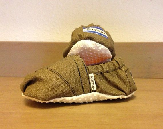 Custom Baby TOMs with Baby's Name by PlaidPocket on Etsy
