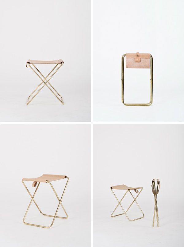 Folding Brass Stool 1.0 | Brass | Leather | Kate Sylvester | Products I Love | Pinterest | Stools Apartments and Interiors  sc 1 st  Pinterest & Folding Brass Stool 1.0 | Brass | Leather | Kate Sylvester ... islam-shia.org
