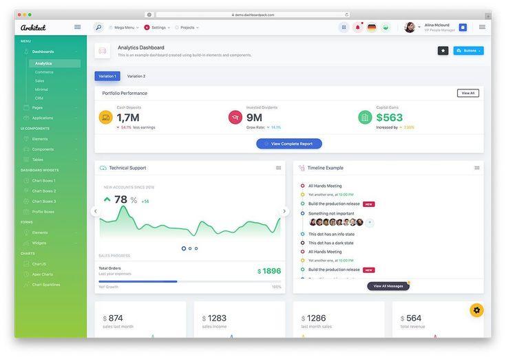 45 Free Bootstrap Admin Dashboard Templates 2020 Colorlib