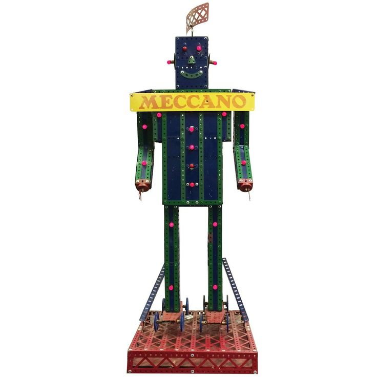Meccano Robot Store Display Robot | From a unique collection of antique and modern toys at https://www.1stdibs.com/furniture/more-furniture-collectibles/toys/
