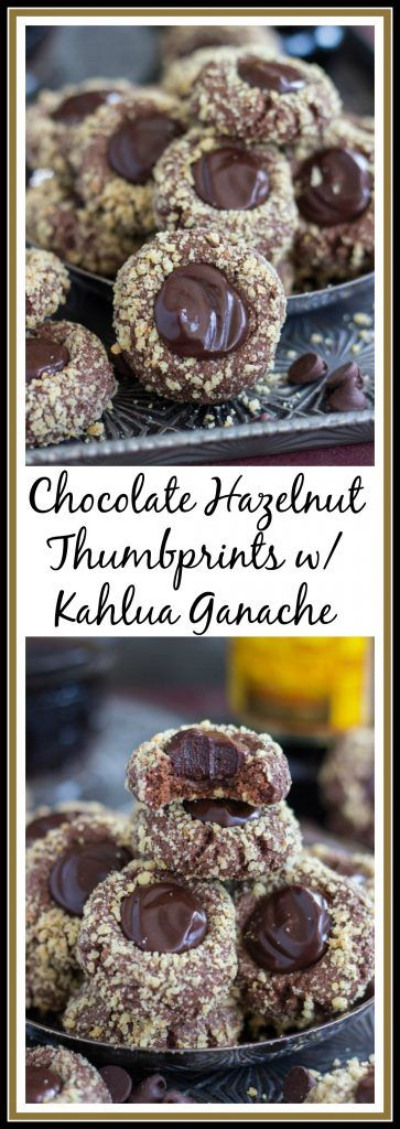 Buttery chocolate thumbprint cookies, filled with a ridiculous semi-sweet chocolate ganache, spiked with Kahlua!