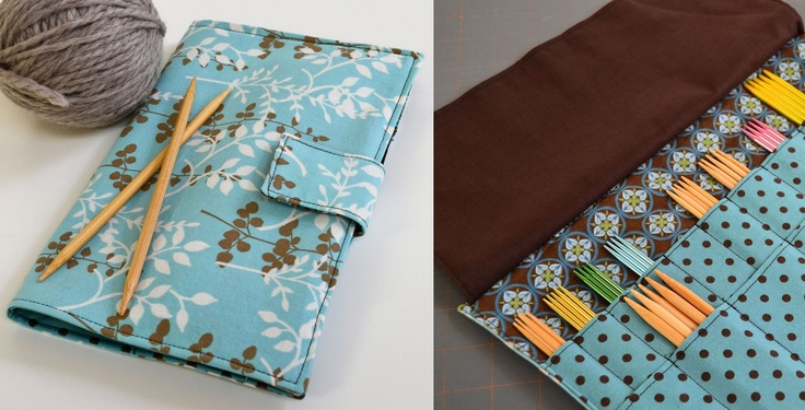 Quilted Knitting Needle Case Pattern : Crafty avocado double point needle case diy pinterest