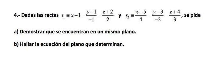 Ejercicio 4B 2015-2016 Junio. Propuesto en examen pau de Canarias. Matemática. Geometría métrica.