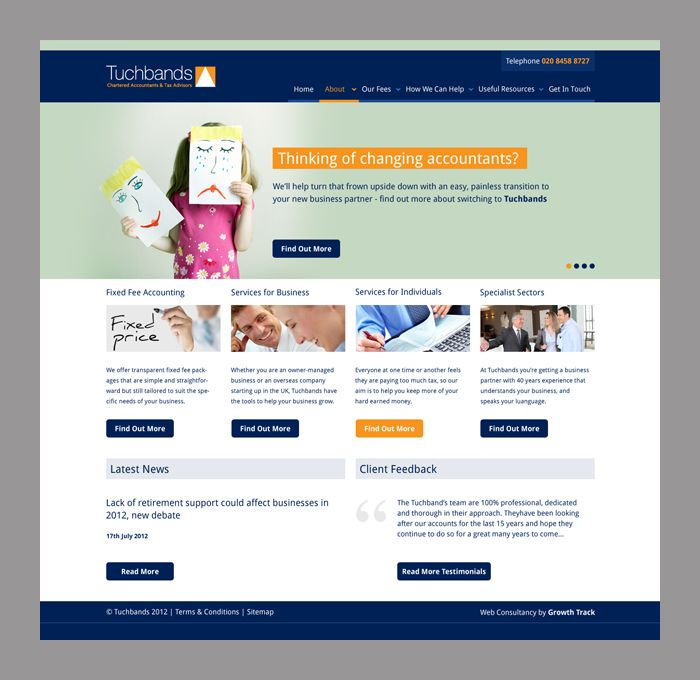 Tuchbands Accountant WordPress Website