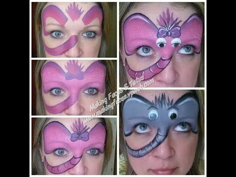 Silly elephant face painting tutorial - YouTube