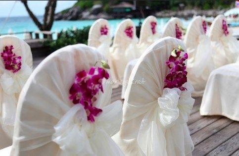 idea sillas decorar flores!!