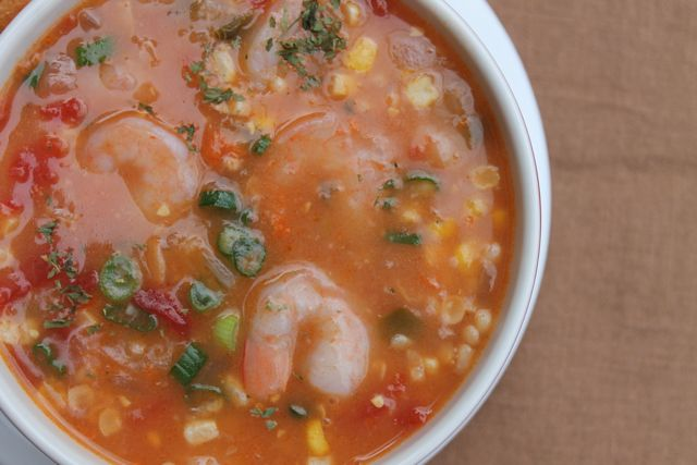 Louisiana Shrimp and Corn Soup + How to Make a Roux - Our Southern Roots