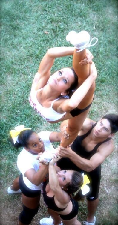 cheer scorpion needle straight leg practice cheerleading cheerleader