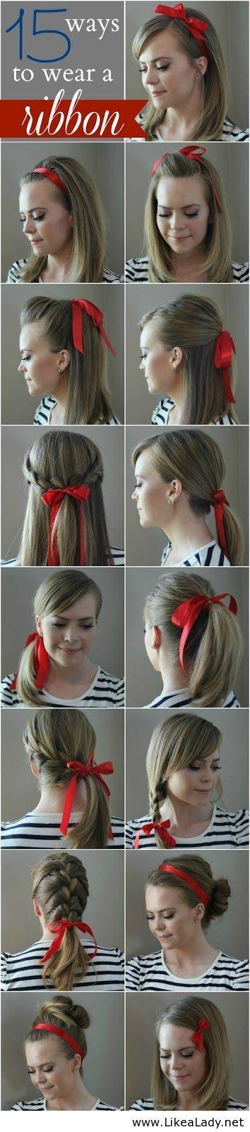 Ways to wear a ribbon