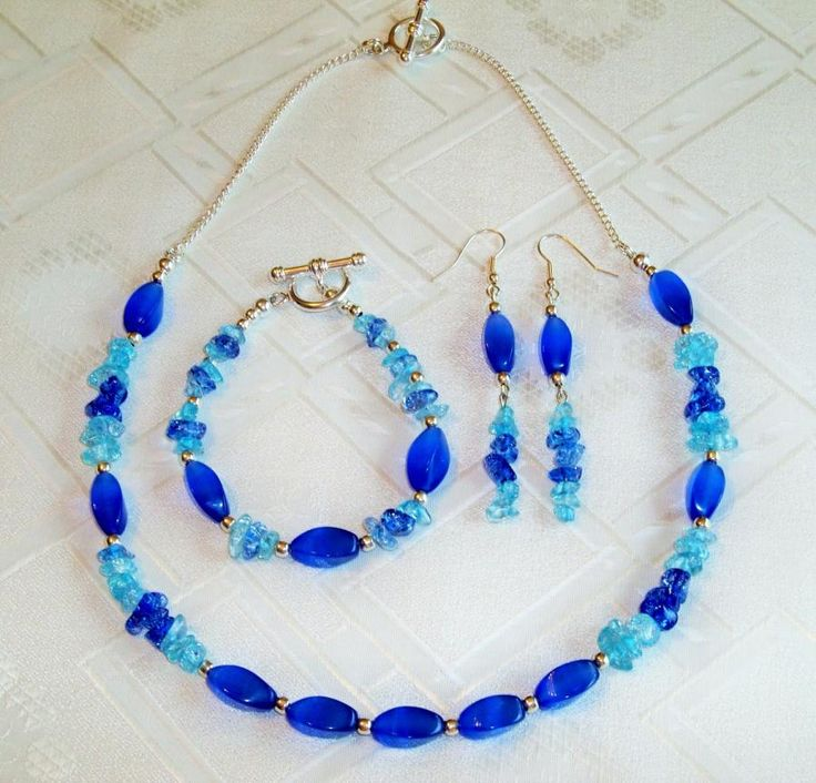 Blue Ice! - Jewelry creation by Chris Donofrio