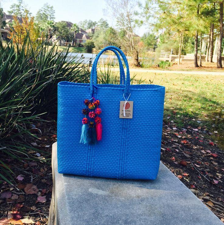 Handwoven Bag Handbag Recycled plastic bag by Spiralspiral
