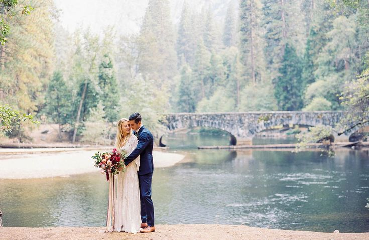 Did you see Morgan + Dave's epic pre-wedding shoot at Taft Point in Yosemite this morning? If not, you have to pop on over (we promise you'll be awestruck!) and then head back here for all the actual wedding goodness! You might recognize Morgan as she is the darling wedding designer + planner behind Spreading...