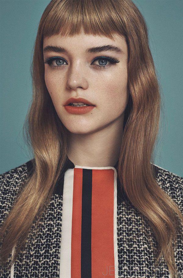 DARK SPARKLE BABE FRINGE FRINGE BANG BANG HAIR INSPO DARK SPARKLE SHOP -------- Willow Hand para Vogue Japão | Fotografia de Emma Tempest