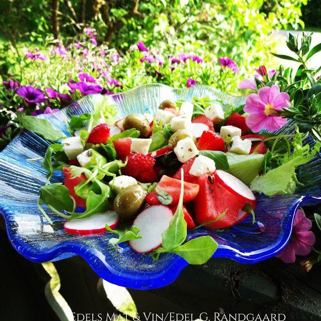 Edels Mat & Vin: Sommersalat med jordbær, reddiker og melon ♫♫ ♥