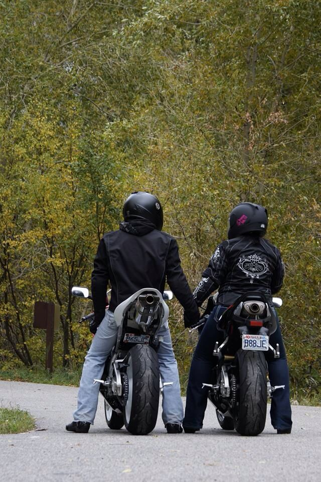 Motorcycle love  Learn to ride and go side by side on our own bikes.