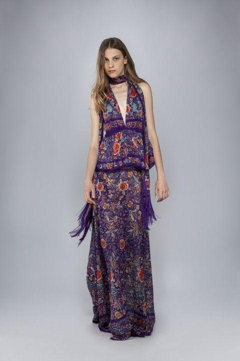 rueschenkleid enchanted garden lange kleider roberto cavalli