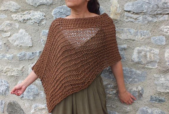 Poncho Summer Poncho Womens Poncho Boho Chic Dress Coverup Swim Suit Cover Up Loose Knit Poncho Festival Clothing Ladies Poncho Knitted Poncho Swimsuit Cover