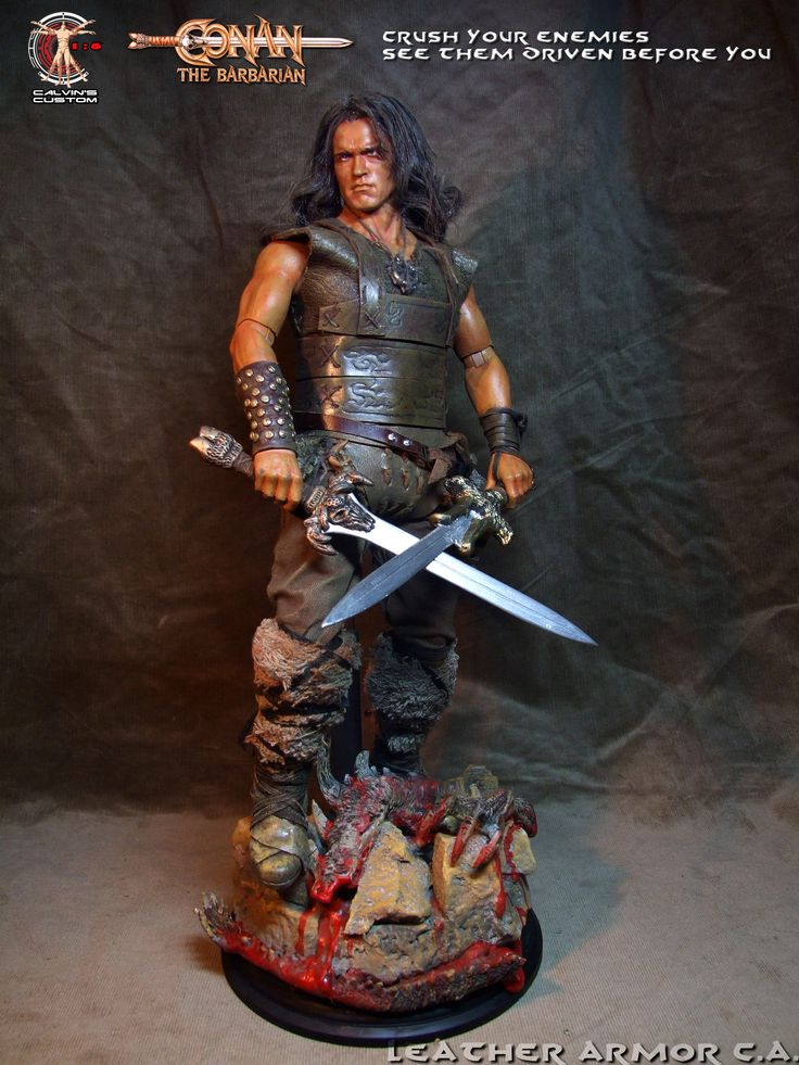 Calvin's Custom One Sixth Scale Arnold Schwarzenegger as Conan the Barbarian and Conan the Destroyer figures