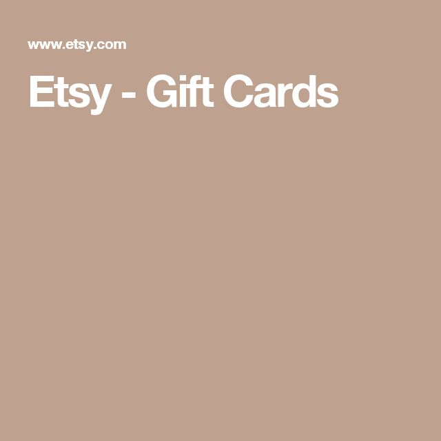 Etsy - Gift Cards
