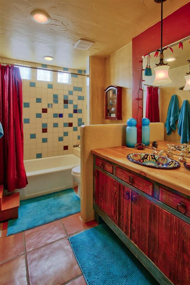 Southwest Style Bathroom Home For Sale 1001 Princeton Dr SE Albuquerque NM 87106