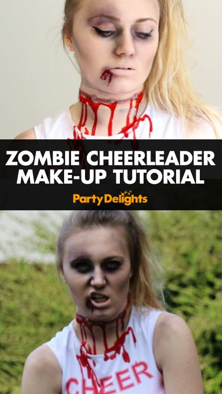 We've teamed up with guest blogger Beky Lou (www.bekylou.com) to bring you a zombie cheerleader make-up tutorial for Halloween The perfect way to complete your zombie cheerleader costume - read Beky's expert tips and tricks to find out how to do this gruesome Halloween face paint!