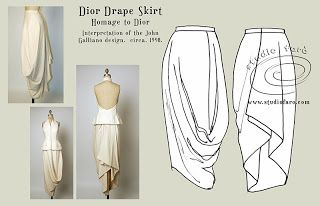 Drapey skirt pattern