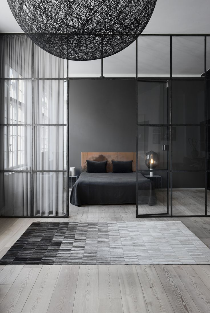 Темно-серый спальня с Linie Design