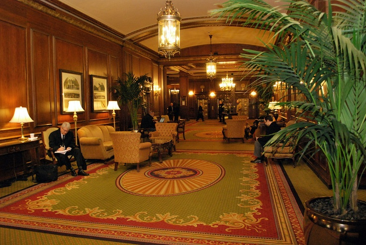 The lobby of the Boston Omni Parker House. This hotel is where we began our honeymoon. I got to check in here wearing my dress.
