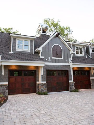 Normally, I think garages are an eyesore but these are gorgeous! Definitely a requirement for a dream house