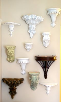 beautiful wall brackets (Home Goods has these all the time-L)