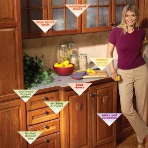 Tune up your kitchen cabinets and make them look and work like new. Learn quick fixes for banging, misaligned doors, sticky drawers, broken drawer boxes, and other common but annoying kitchen problems.: Cabinets Repair, Kitchens Design, Simple Kitchens, Kitchens Ideas, Broken Drawers, Annoying Kitchens, 10 Simple, Kitchens Cabinets, Kitchen Cabinets