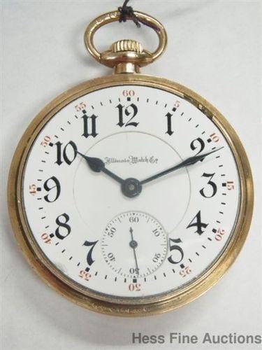 Illinois Sangamo 21J Script Dial 6 POS Ruby Jewel Getty Railroad Pocket Watch | eBay