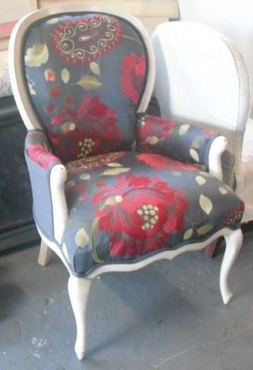 Classic chair Re-upholstered in Hertex Lillyput fabric by Cazco Re-upholstery & New Furniture