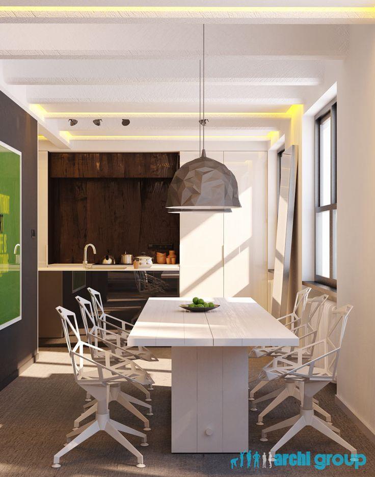 Dining room design in Katowice, POLAND - archi group. Jadalnia w domu jednorodzinnym.