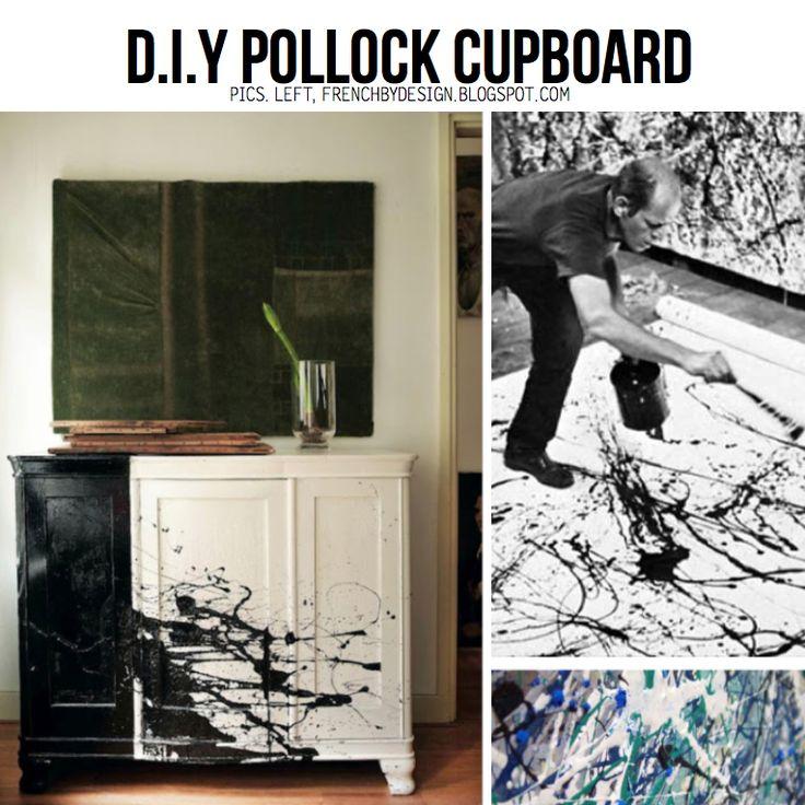 DIY Splatter Paint Cupboard. Channel your inner Jackson Pollock with the D.I.Y Splatter Paint line-up on ScrapHacker.com