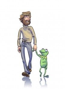 Another wonderful one: Jim Henson with Kermit