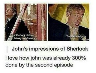 I'm sorry but yeah I'm really not #sherlock #johnwatson #sherlockholmes