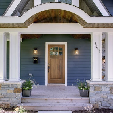Bungalow designs front doors and eyebrow design on pinterest for Ranch house front door