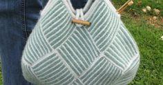 Jeg fandt den oprindelige, japanske opskrift til denne strikkede taske på Ravelry - men den er meget ordfattig, og jeg har derfor hovedsag...