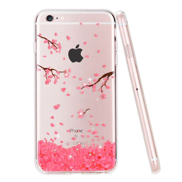 Case For iphone 6 s, Rhinestone Glitter Silicone Cover