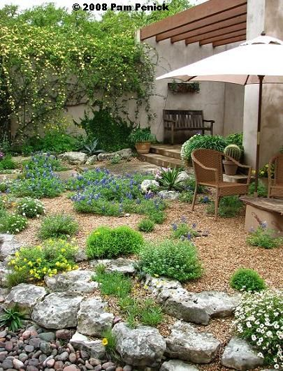 79 best rock garden ideas images on pinterest for Xeriscaped backyard design