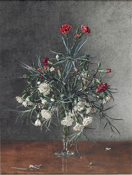 File:Léon Bonvin - Vase of Red and White Carnations - Walters 371503 (2).jpg