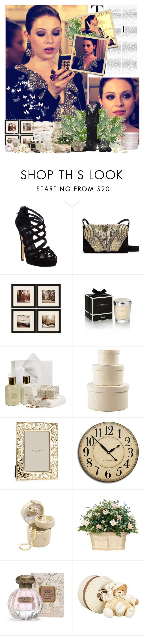"""Georgina Sparks"" by sunnygirl57 ❤ liked on Polyvore featuring Badgley Mischka, Casadei, MANGO, Harrods, Parra, Tocca and Kaloo"
