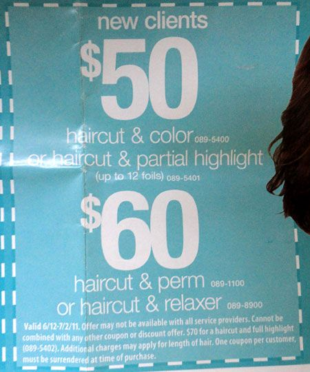 photograph regarding Printable Coupons Silver Dollar City known as JCPenney Hair Salon Coupon codes and Salon Merchandise Sale
