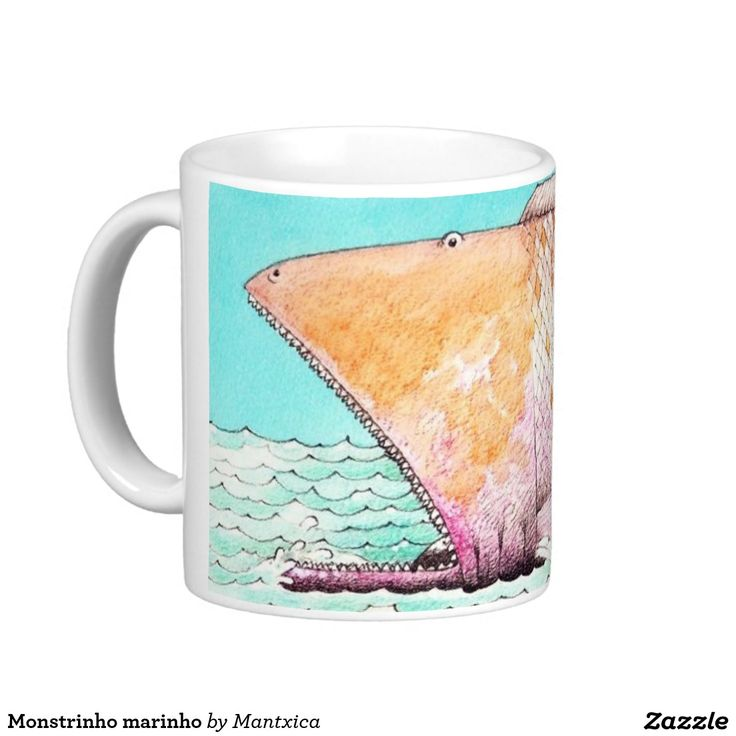 Monstrinho marinho caneca
