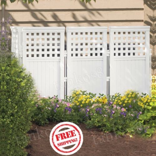 Details about outdoor privacy screen enclosure white vinyl for Outdoor privacy screen white