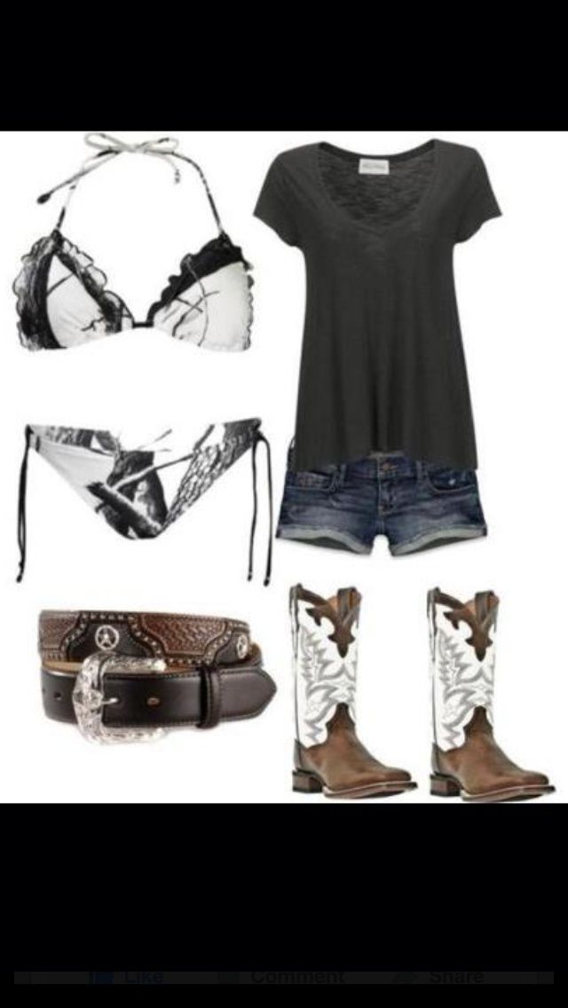 country outfits | Cute country outfit ... | Country Summer outfits haha love the swimsuit